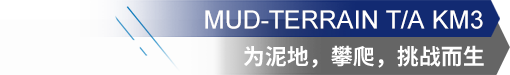 MUD-TERRAIN T/A KM3 为泥地,攀爬,挑战而生